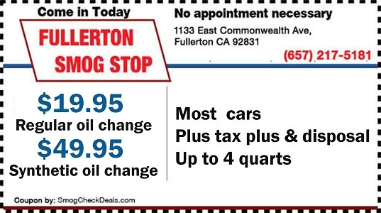 Synthetic Oil Change Coupons >> 27 95 Star Smog Check Fullerton Smog